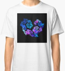 Spiral Flower Heart (Black Background) Classic T-Shirt