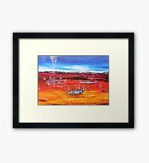 Outback Oasis Framed Print