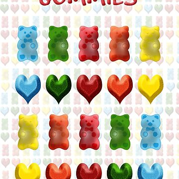 Gummy Bears, Jelly Hearts by carolv723