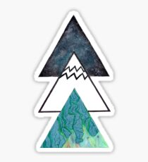 Aquarius Galaxy Oil spill Triangles Sticker