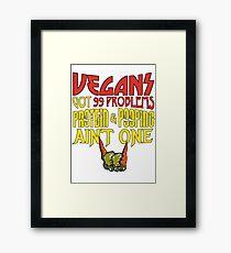 Vegans Rock Framed Print
