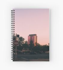 pink hues downtown. Spiral Notebook