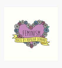 Feminism Flower: Back by Popular Demand Art Print