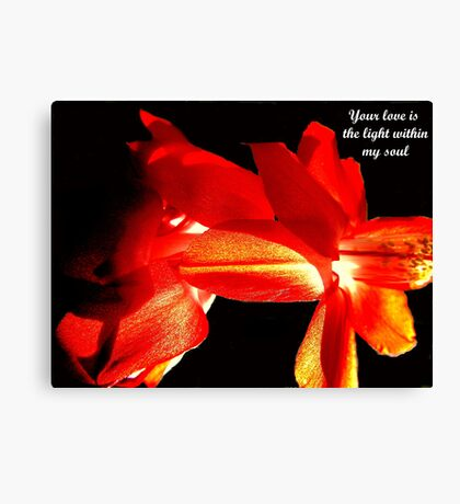 For my lover Canvas Print