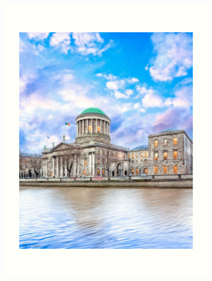 Irish Four Courts In Historic Dublin Ireland by Mark Tisdale