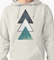 Oil spill Galaxy Triangles Pullover Hoodie