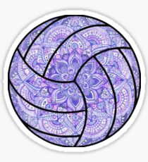 Purple Volleyball Sticker