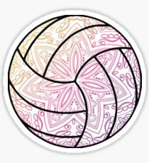 Volleyball Pink Sticker