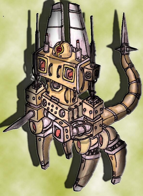 scorpion robot by rowanpunk