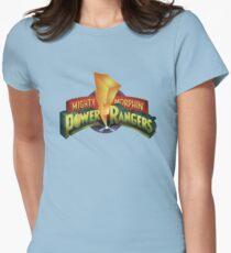 Mighty Morphin Power Rangers logo lightning bolt Womens Fitted T-Shirt