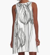 tulip line pattern A-Line Dress