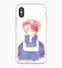 todoroki shouto flower crown iPhone Case