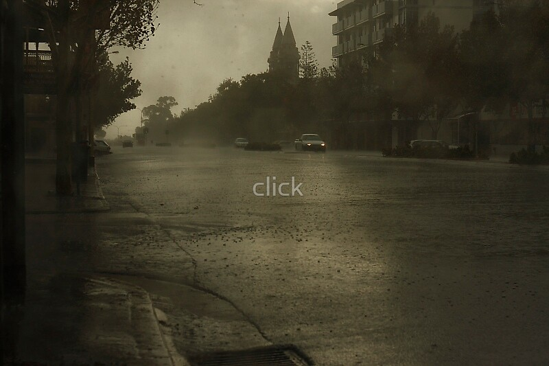 Adelaide in raining by click