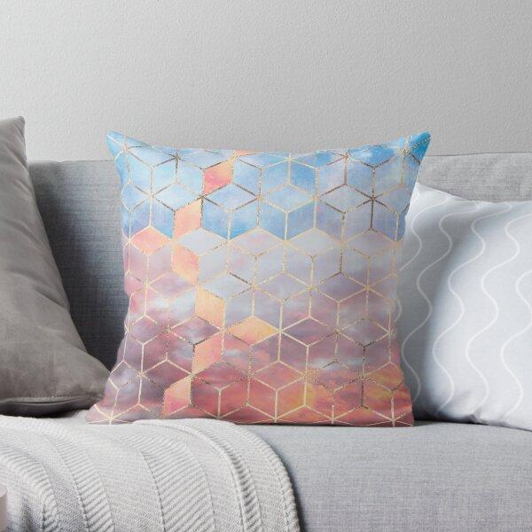 Magic Sky Cubes Throw Pillow