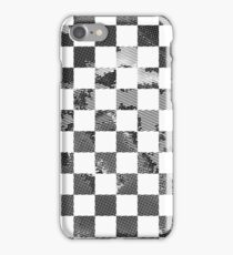 Pop Art Comic Book Checkered Black and White Gingham iPhone Case/Skin