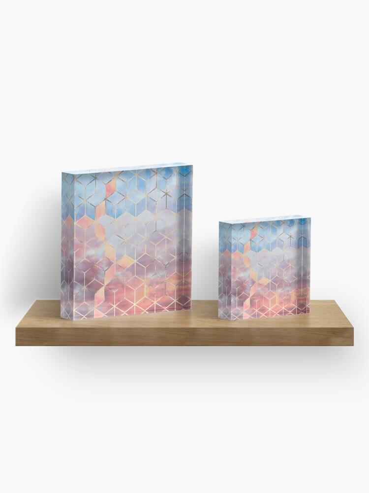 Alternate view of Magic Sky Cubes Acrylic Block