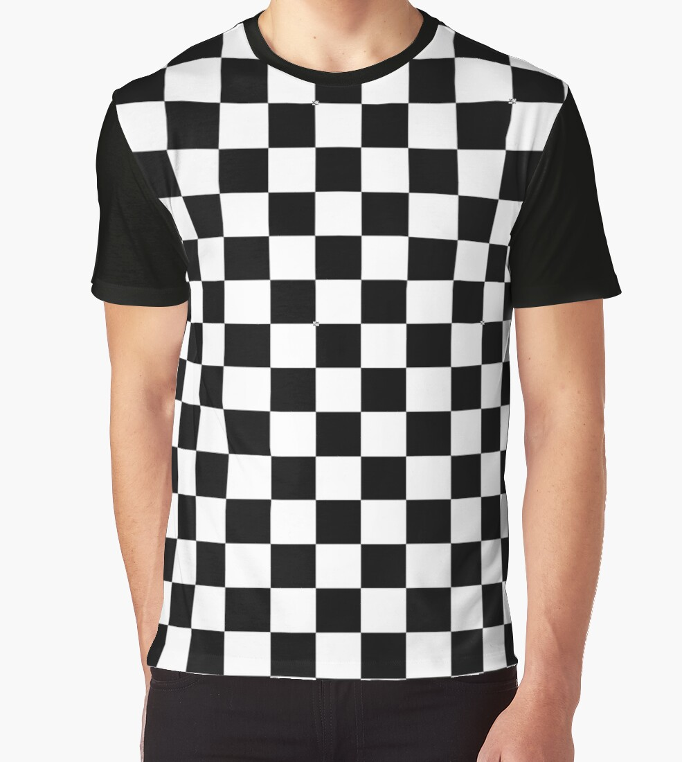 Black And White Check Checkered Flag Motorsports Race Day