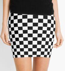 Schwarz-Weiß-Check Checkered Flag Motorsport-Renntag + Schach Minirock