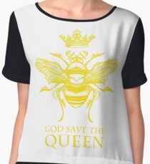 God Save the Queen 'Bee' Women's Chiffon Top