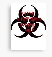 Zombie Infection Canvas Print