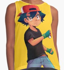 Ash with Pokeball Contrast Tank