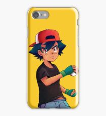 Ash with Pokeball iPhone Case/Skin