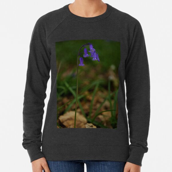 Single Bluebell in Prehen Woods, Derry Lightweight Sweatshirt