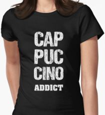 Cappuccino Addict Womens Fitted T-Shirt