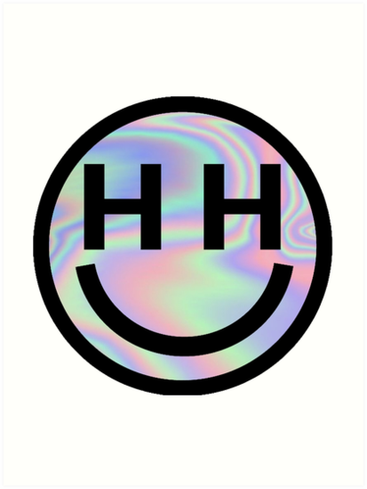 Happy Hippie Foundation Logo Miley Cyrus Holographic Art Print By