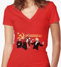 marxism Women's Fitted V-Neck T-Shirt