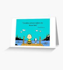 charlie brown Greeting Card