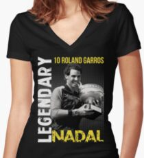 Rafa Nadal Legendary Women's Fitted V-Neck T-Shirt