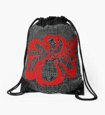 Polynesian Design Flower Drawstring Bag