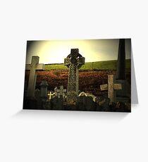 Celtic gravestone Greeting Card