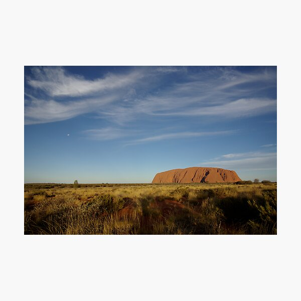 Uluru before Sunset (but after Moonrise) Photographic Print