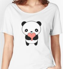 Kawaii Cute Panda Bear  Women's Relaxed Fit T-Shirt