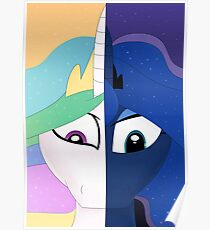My Little Pony (Princess Celestia and Luna) - The Princesses of Day and Night  Poster
