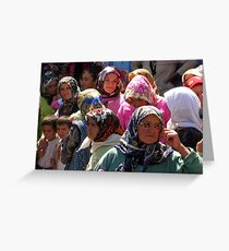 Women In The Crowd Greeting Card
