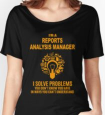 REPORTS ANALYSIS MANAGER Women's Relaxed Fit T-Shirt