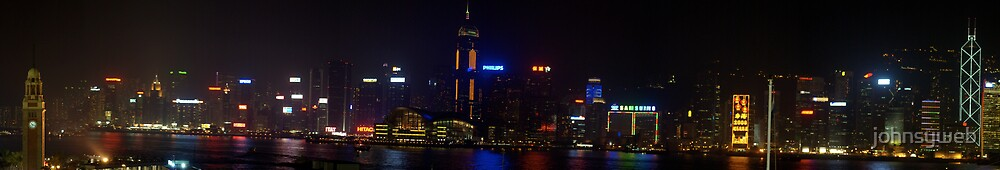 Hong Kong Island By Night from Kowloon by johnsyweb