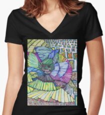 the lift, birth of a dragon Women's Fitted V-Neck T-Shirt