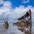 Wreck of the Peter Iredale, pano, Fort Stevens, Oregon by Zigzagmtart