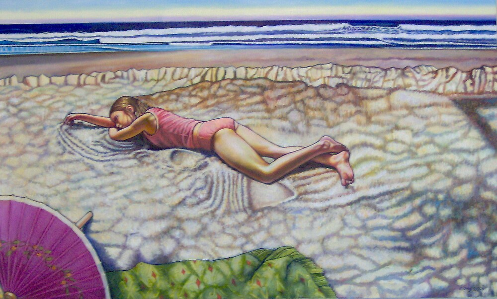 Lying on the Beach by Eleanor Day
