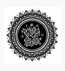 Bouquet Mandala Photographic Print