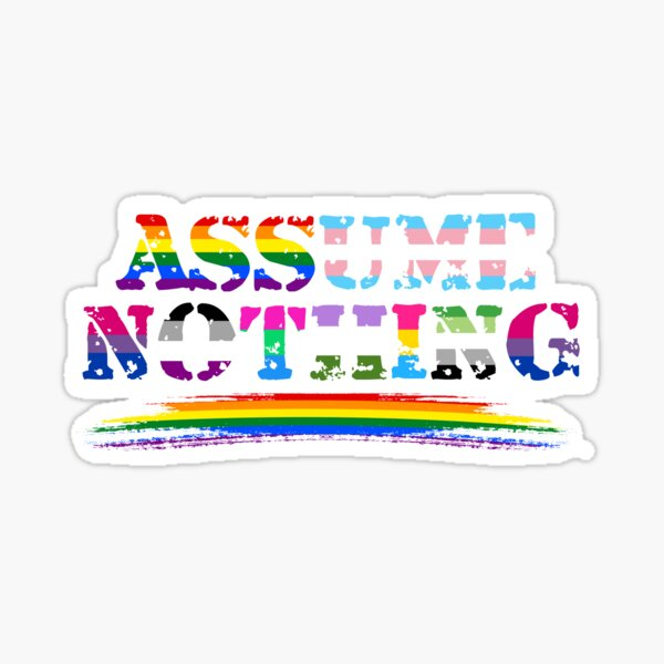 Assume Nothing - Queer Pride Sticker