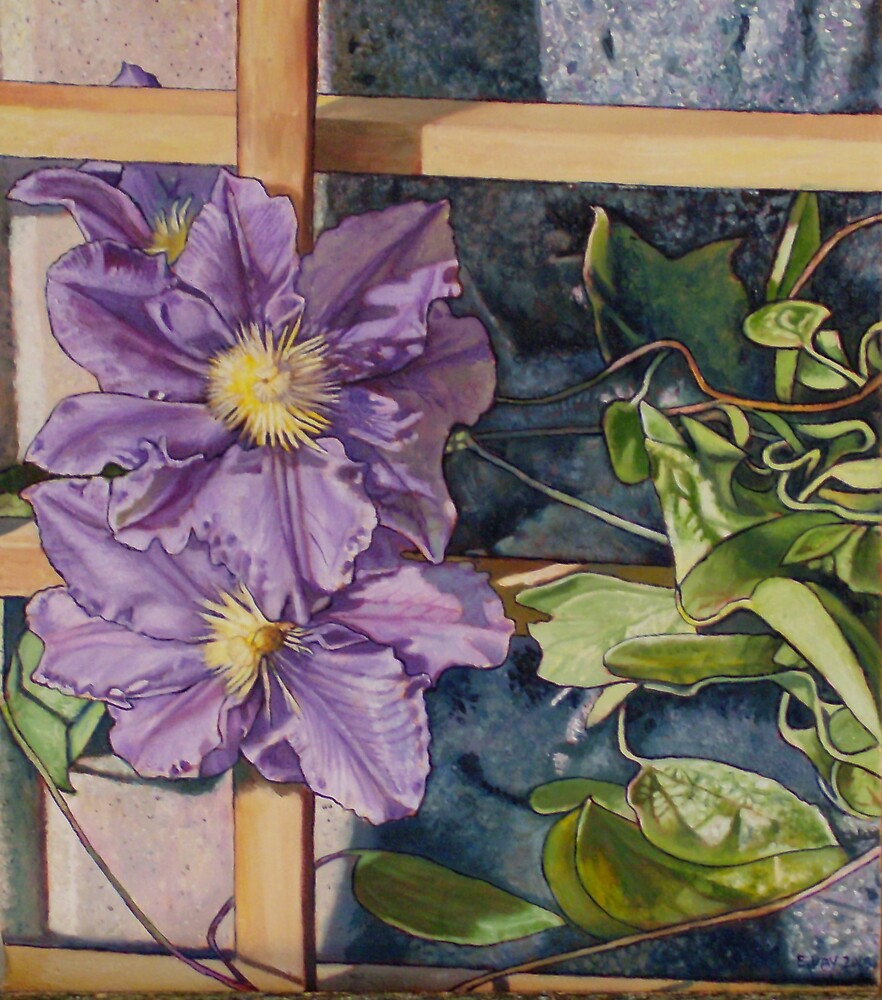 Purple Clematis by Eleanor Day