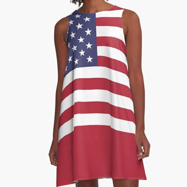 American Mini Skirt - USA Flag A-Line Dress