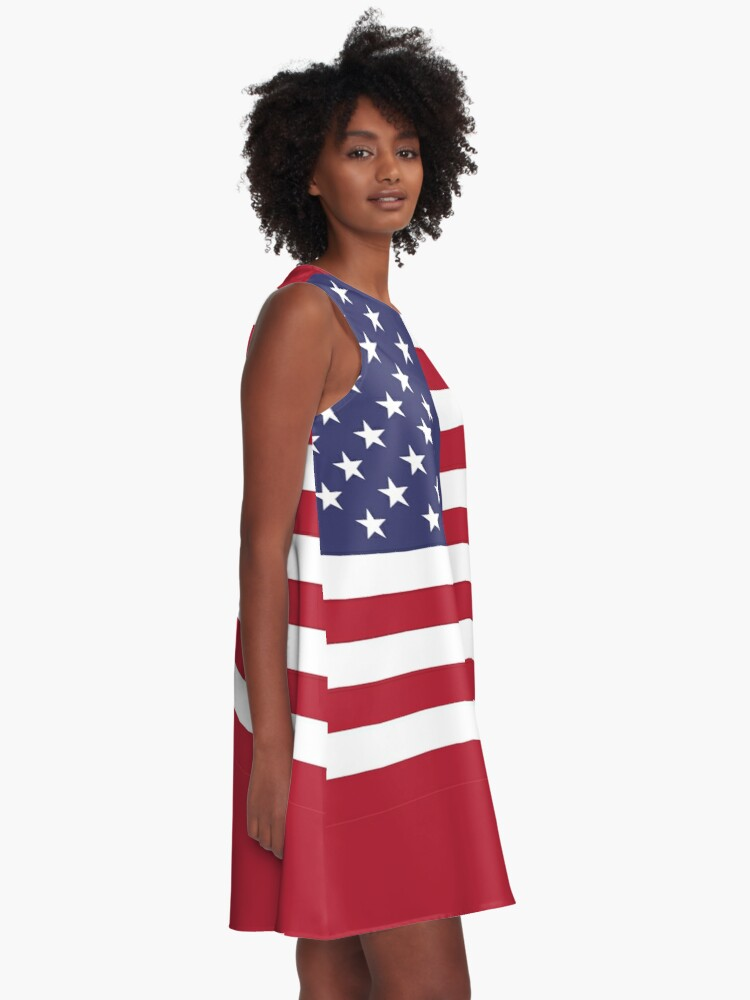 Alternate view of American Mini Skirt - USA Flag A-Line Dress