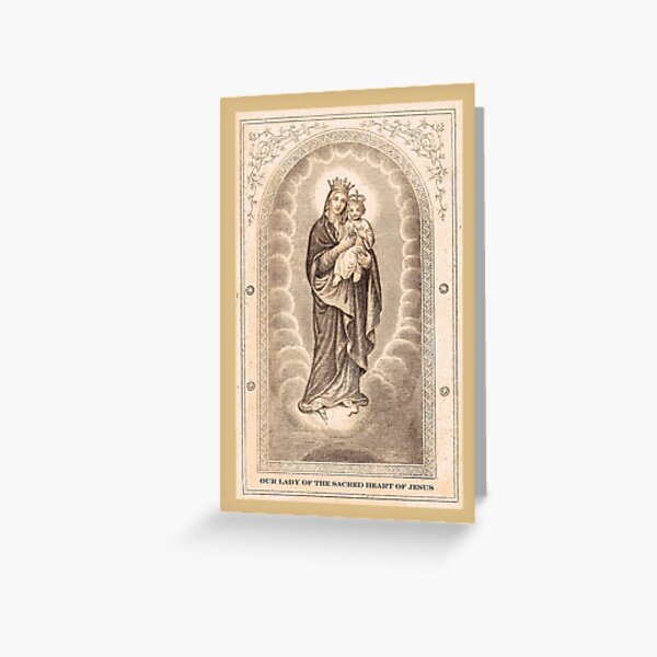 Our Lady of The Sacred Heart of Jesus Greeting Card