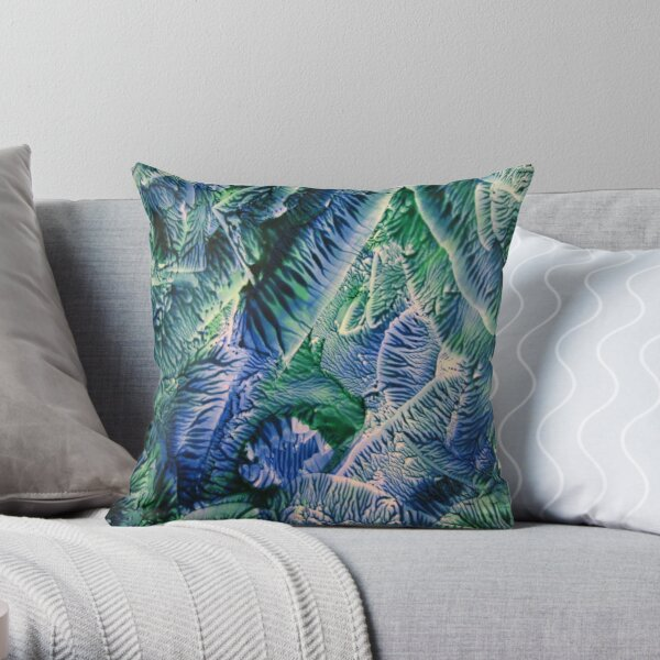 Blue Green Abstract II Throw Pillow